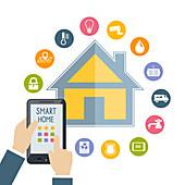 Smart home, illustration