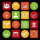 Business icons, illustration