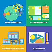 Digital marketing, illustration