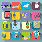 Office icons, illustration