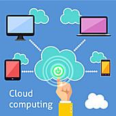 Cloud computing, illustration