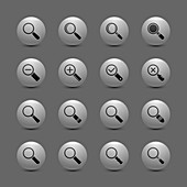 Magnifying glass icons, illustration