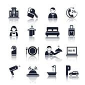 Hotel icons, illustration