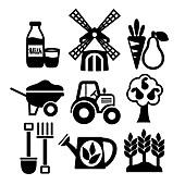 Farming icons, illustration