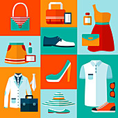 Clothing and accessories, illustration