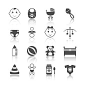 Baby icons, illustration
