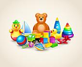 Toys, illustration