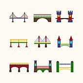 Bridge icons, illustration