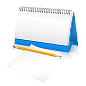 Blank calendar page, illustration