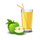 Apple juice, illustration