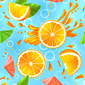Orange slices, illustration