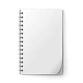Blank notepad page, illustration