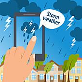 Storm prediction, illustration