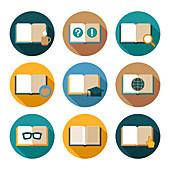 Book icons, illustration