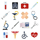 Healthcare icons, illustration