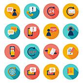 Customer service icons, illustration