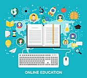 E-learning, illustration