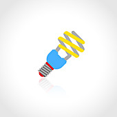 Energy saving lightbulb, illustration