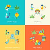 Drugs, illustration