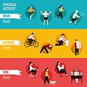 Physical activity, illustration