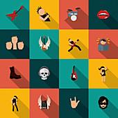Rock music icons, illustration