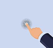 Touchscreen, illustration