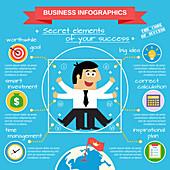 Business success, illustration