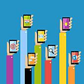 Social network, illustration