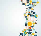 Online education, illustration