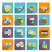 Cash icons, illustration