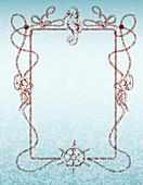 Nautical frame, illustration