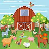 Farm, illustration