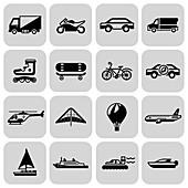 Transport icons, illustration