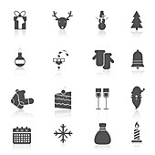 Christmas icons, illustration