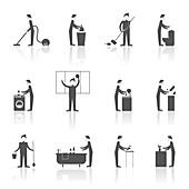 Housework icons, illustration