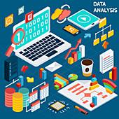 Data analysis, illustration