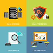 Digital data, illustration