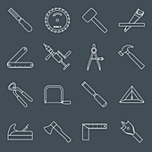 Tool icons, illustration