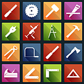 Tool icons, illustration