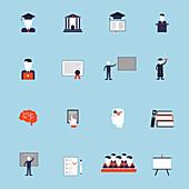 University icons, illustration