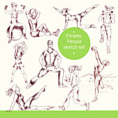 Exercising, illustration