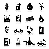 Biofuel icons, illustration