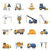 Construction icons, illustration