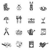 Spring icons, illustration