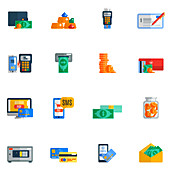 Payment icons, illustration