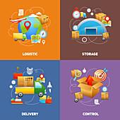 Logistics, illustration