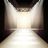 Fashion runway, illustration