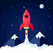 Spaceship, illustration