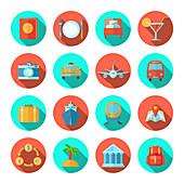 Travel icons, illustration