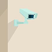 Security camera, illustration